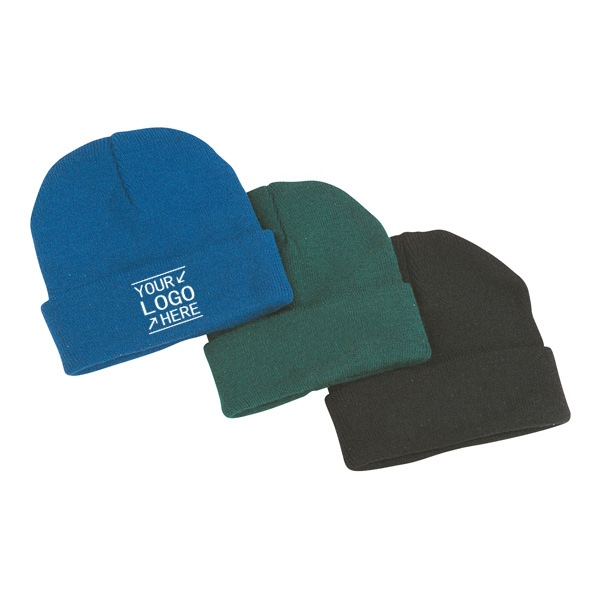 Roll Up Knitted Beanie Hat
