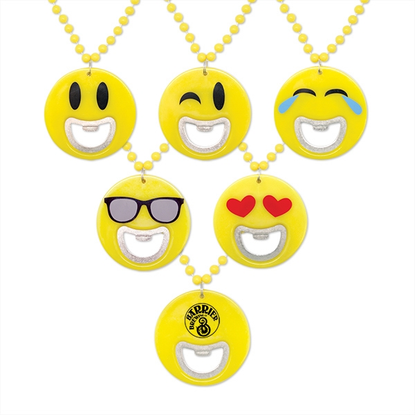 Emoticon Bottle Opener Medallion Beads