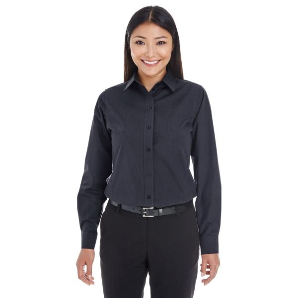 Devon & Jones Ladies' Crown Woven Collection™ Striped Shirt