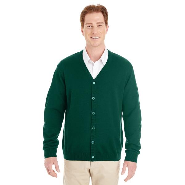 Harriton Men's Pilbloc™ V-Neck Button Cardigan Sweater