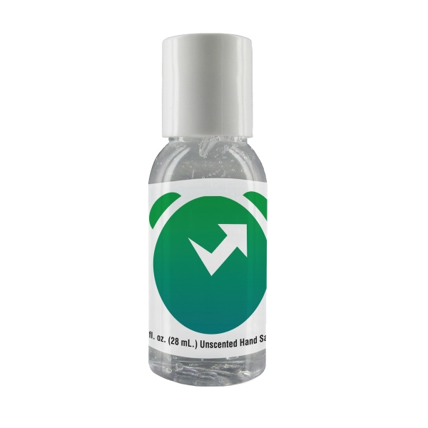 1 oz. Clear Gel Sanitizer in Round Bottle