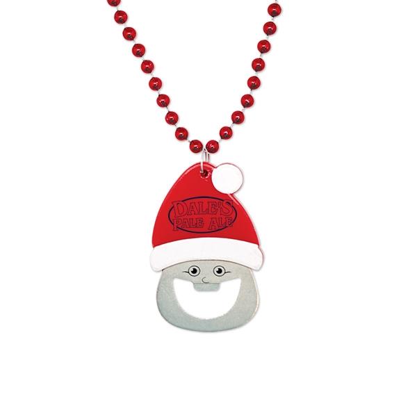 Santa Bottle Opener Medallion Beads