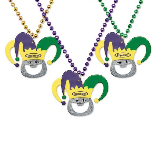 Mardi Gras Bottle Opener Medallion Beads