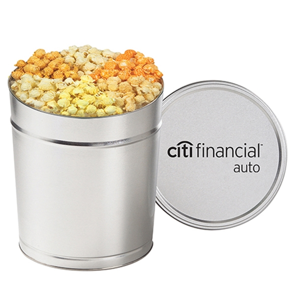 6 Way Savory Popcorn Tin