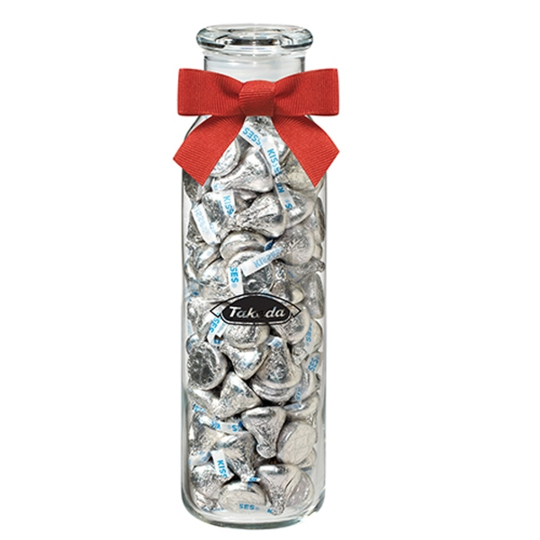 Glass Hydration Jar with Hershey's® Kisses®