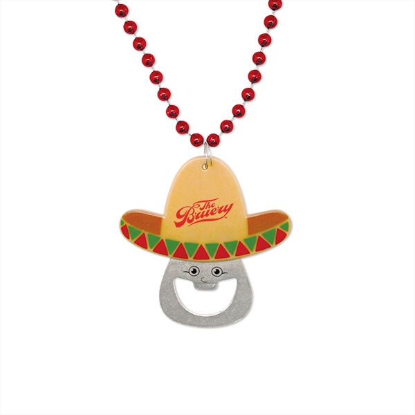 Cinco de Mayo Bottle Opener Medallion Beads