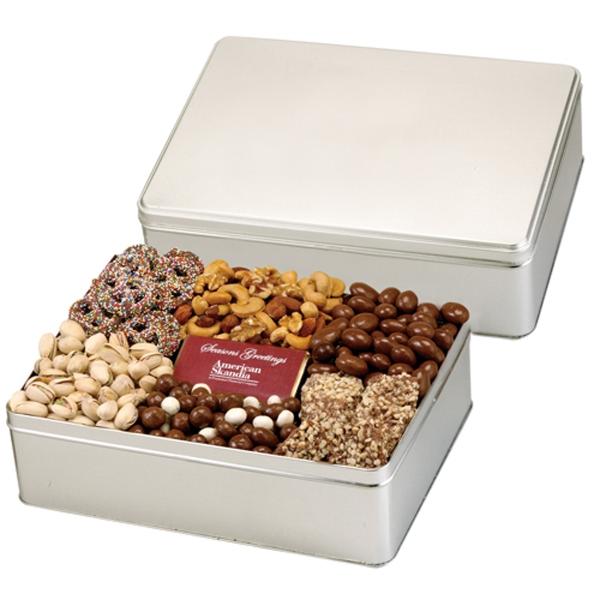 6 Way Deluxe Gift Tin w/ Chocolate Bar - Express Treats