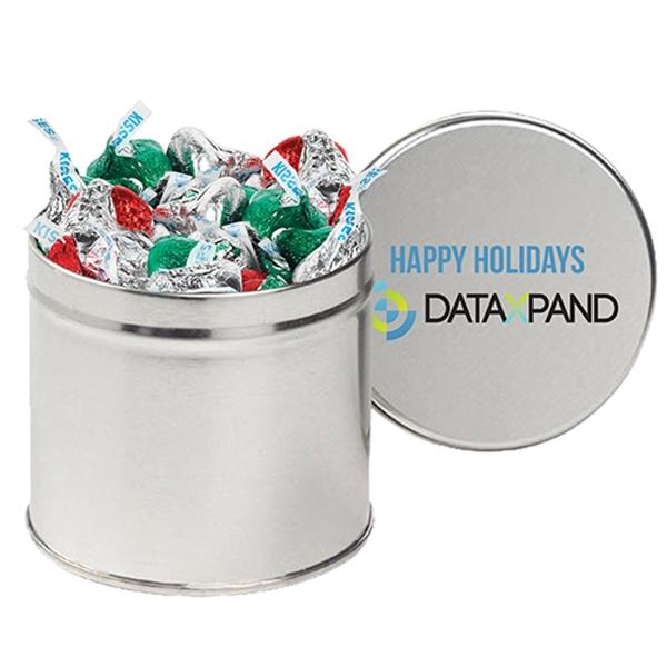 Hershey's® Holiday Kisses® / Half Quart Tin