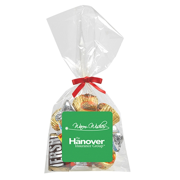 Mug Stuffer Bag / Hershey's Everyday Mix (4 oz) - 4 oz.of our Heshey's Everyday Mix in a bag with choice of bow.