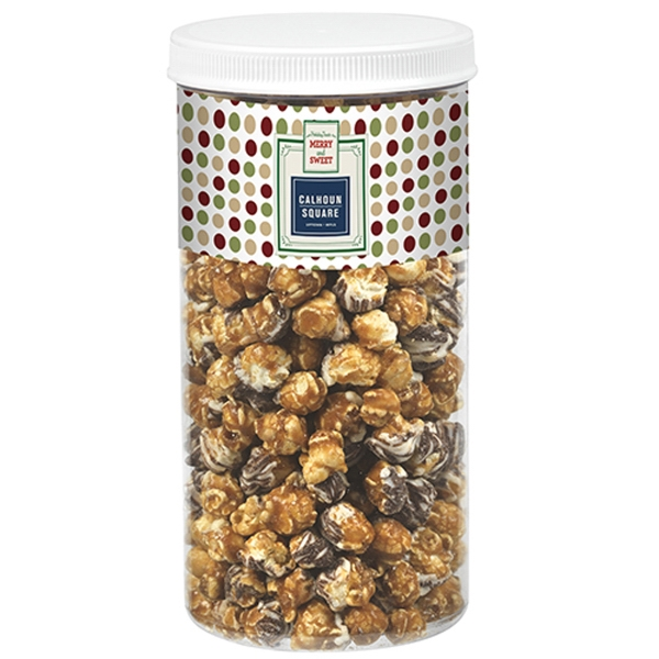 White & Dark Chocolate Swirl Popcorn Tub