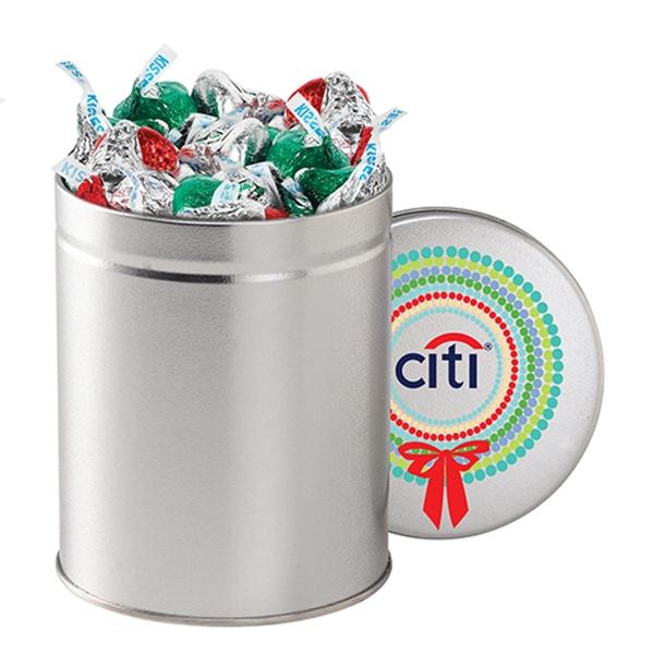 Hershey's® Holiday Kisses® / Quart Tin