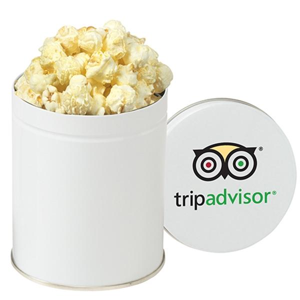 Gourmet White Cheddar Truffle Popcorn Tin