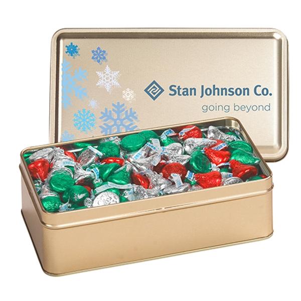 Large Rectangle Tin / Hershey's® Holiday Kisses®