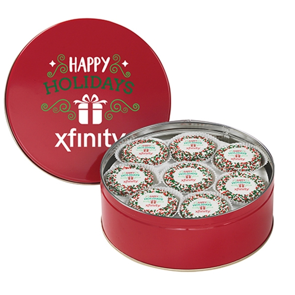 Printed Chocolate Covered Oreo® Tin with 13 Cookies