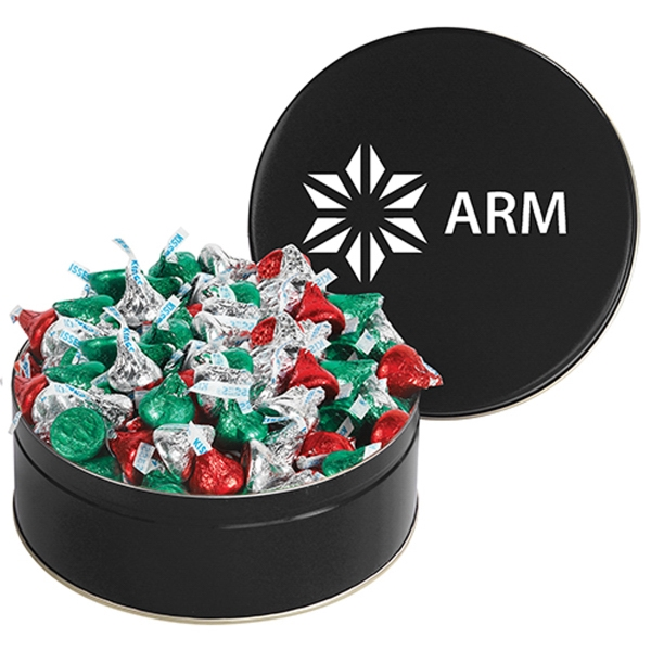 Snack Tin with Hershey's® Holiday Kisses®
