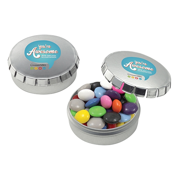 Push Top Tin With Chocolate Buttons