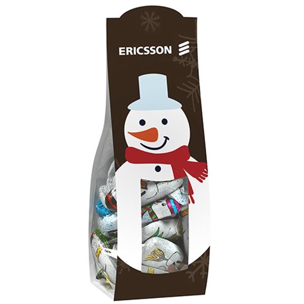 Large Candy Desk Drop w/ Chocolate Snowmen