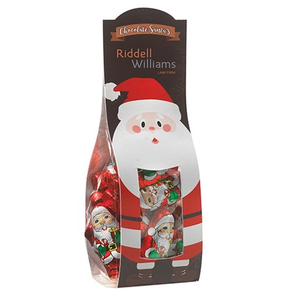 Large Candy Desk Drop w/ Chocolate Santas