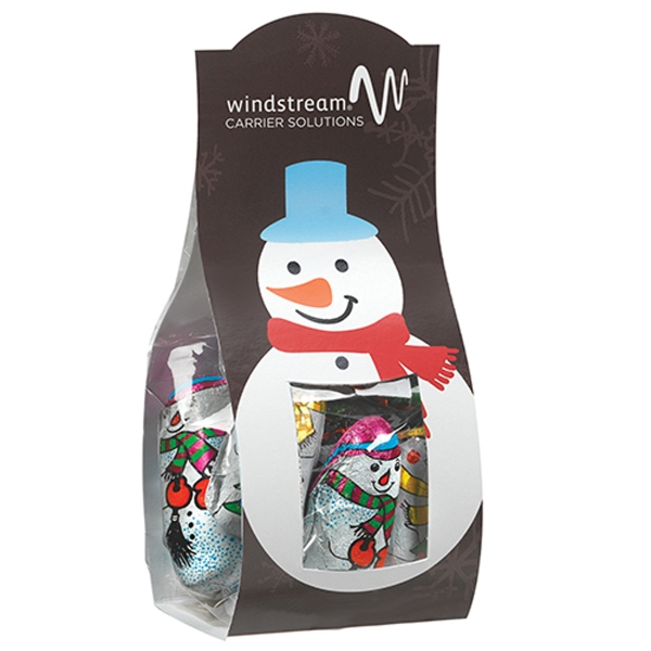 Small Candy Desk Drop w/ Chocolate Snowmen (4.4 oz.)