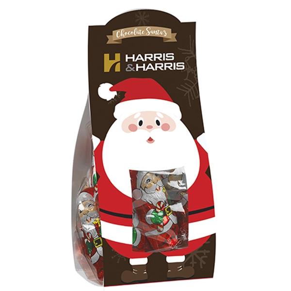 Small Candy Desk Drop w/ Chocolate Santas (4.6 oz.)