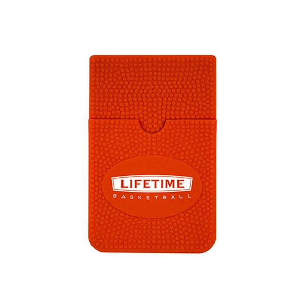 Basketball Print Silicone Smart Wallet