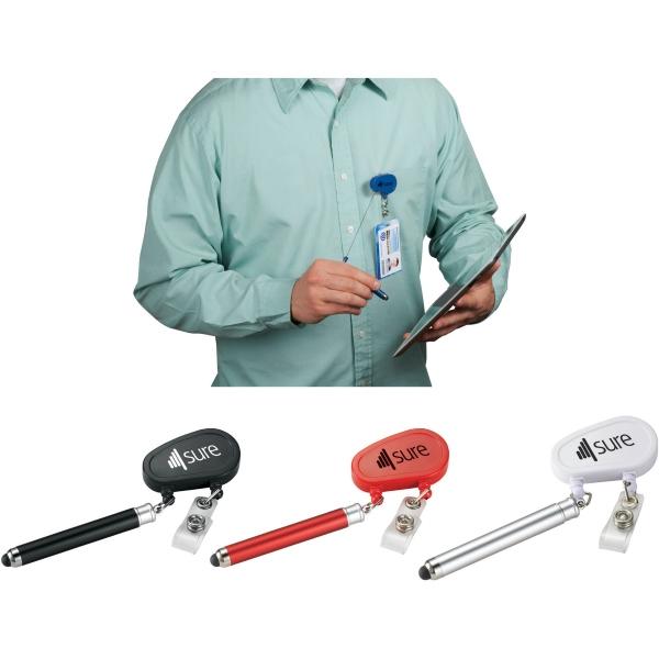 Strato Badge Holder with Pen-Stylus