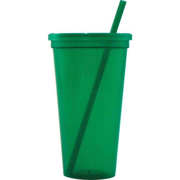 Jewel 24oz Tumbler w/ Lid & Straw
