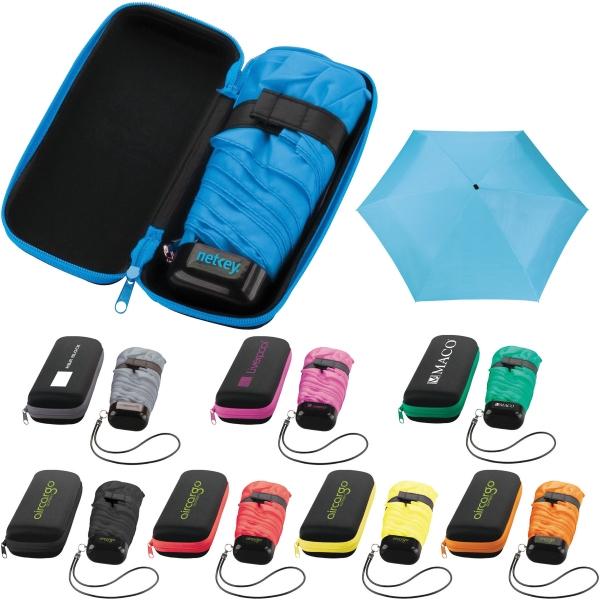 "37"" Mini Folding Travel Umbrella with Ca"