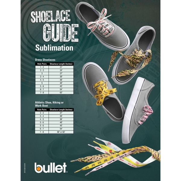 """Full Color Shoelaces - 3/8""""W x 45""""L"""