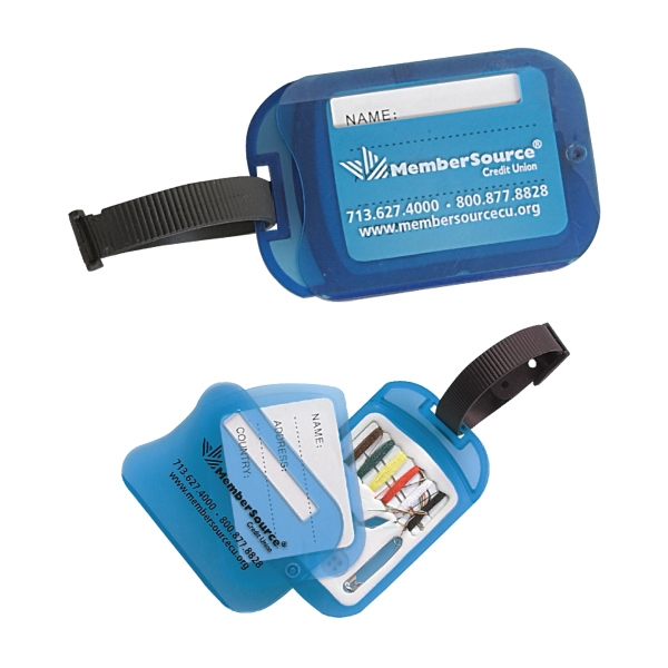 Clearance Item! Luggage Tag With Swiveling Mini Sewing Kit