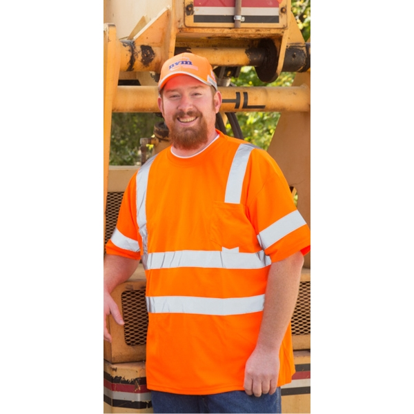 ANSI Class 3 Moisture Wicking Safety T-shirt with Pocket
