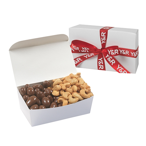 Treasure Chest With Cashews & Chocolate Covered Almonds