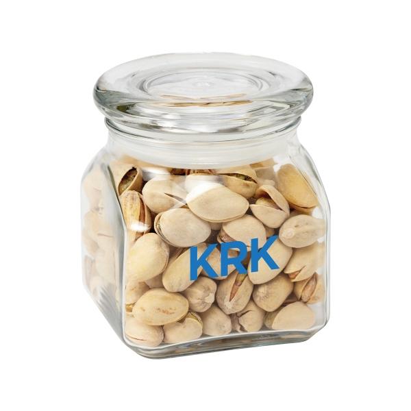Contemporary Glass Jar / Pistachio Nuts
