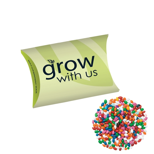 Pillow Box/Chocolate Covered Sunflower Seeds/Gemmies