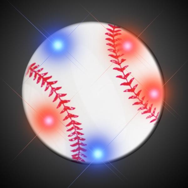 Baseball Flashing Pins With Flashing LEDs