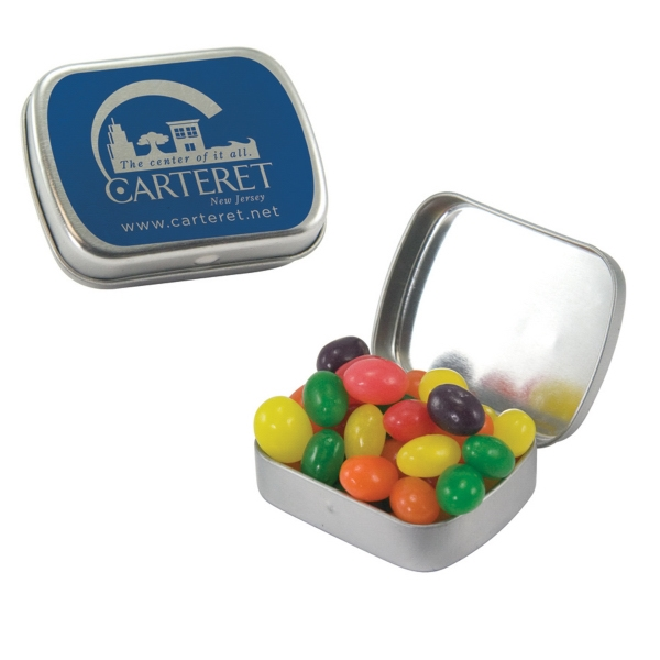 Small Hinged Tin with Jelly Beans Candy