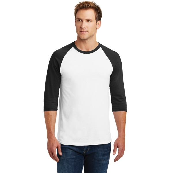 Gildan Heavy Cotton 3/4-Sleeve Raglan T-Shirt.