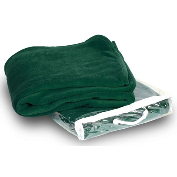 Micro Plush Coral Fleece Blanket - 50X60 Forest Green