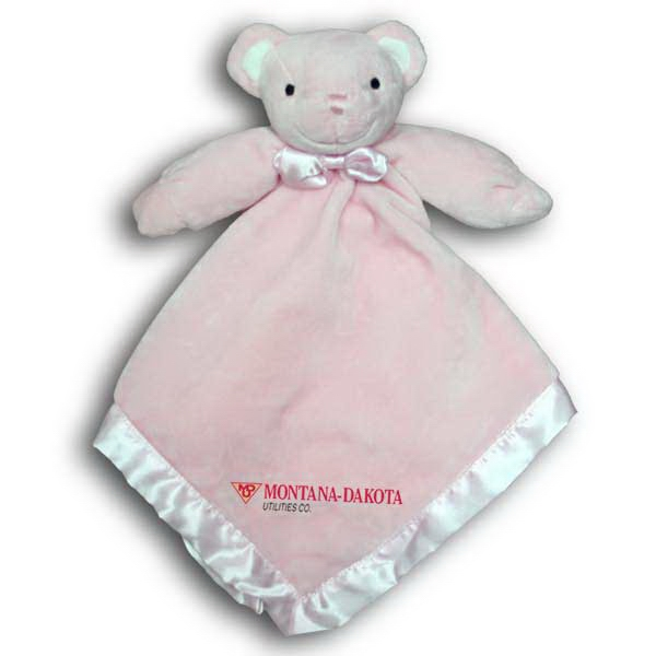 Pink Bear Baby Blanket