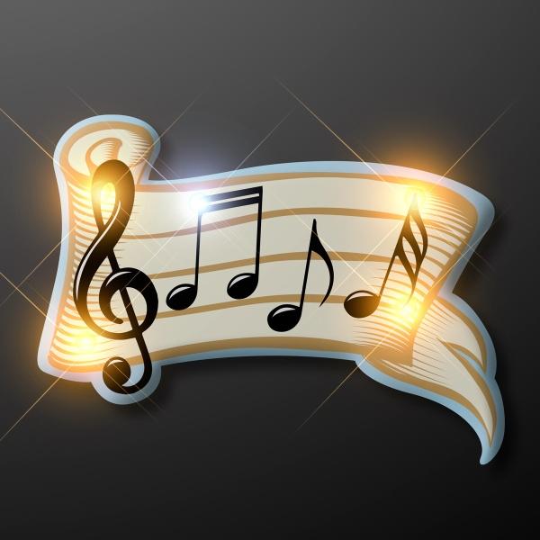 Bar of Musical Notes Light Up Pins