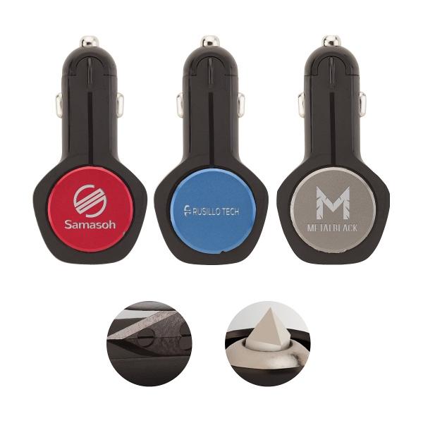 Furios 3-in-1 2.4A Dual USB Car Charger