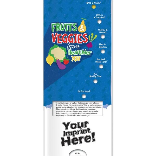 Pocket Slider (TM) - Fruits & Veggies for a Healthier You - Pocket slider with information about fruits and veggies