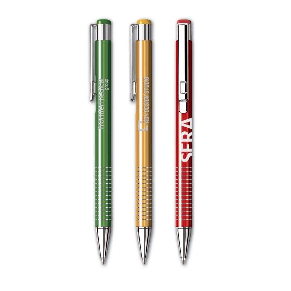 Celebrity (TM) Aluminum Pen - Click action retractable aluminum pen.