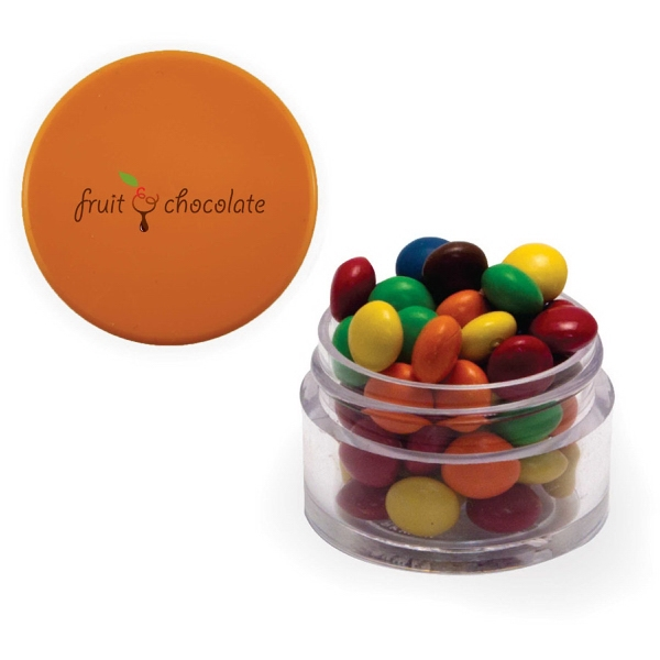 Twist Top Container With Cap filled with Chocolate Littles