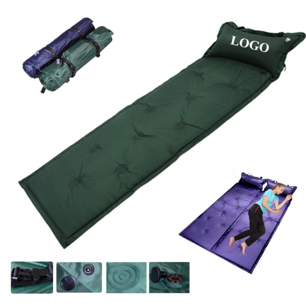 Inflatable Air Beach Mat With Pillow