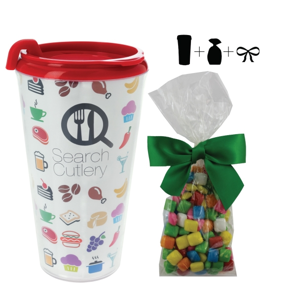 Plastic Travel Mug with Chicle Chewing Gum - 16 oz Drinkware