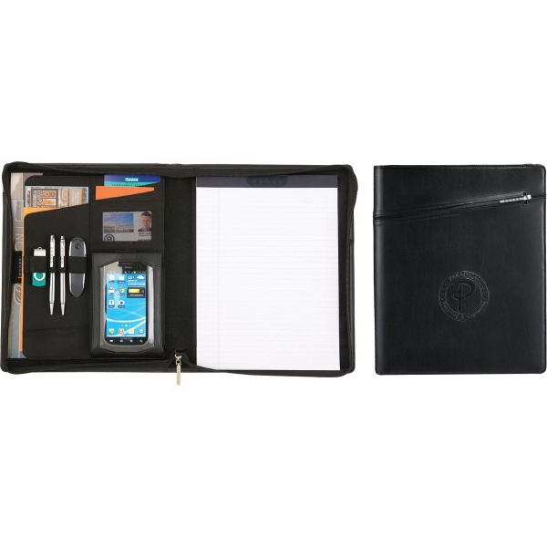 Cross Leather Collection Zippered Padfolio With Pen