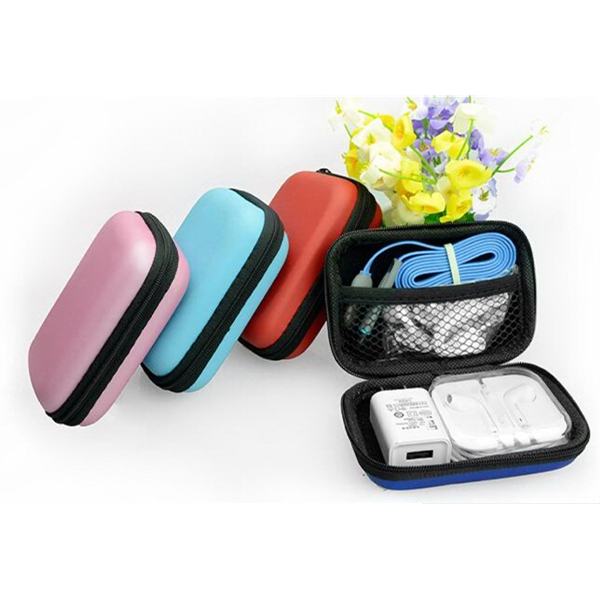 PU Earphone Storage Box