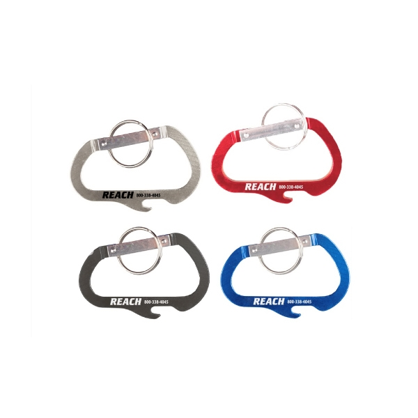 Carabiner with Bottle Opener and Key Ring