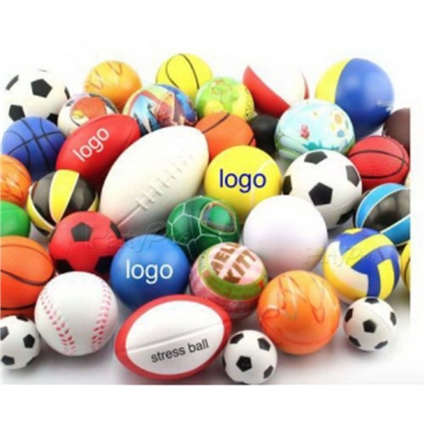 Squeezable Football Soccer Pu Beach Ball,Stress Reliever